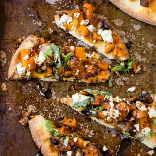 Give pizza night a fall twist with this Roasted Butternut Squash Naan Pizza!
