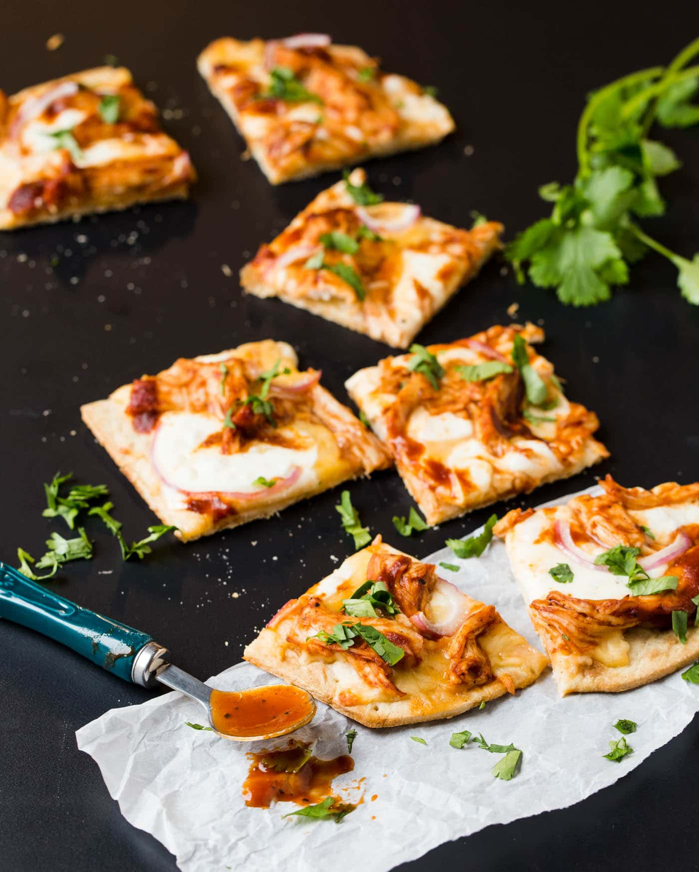 Leftover turkey sandwiches have nothing on this fast and flavorful BBQ Turkey Flatbread - a perfect recipe for leftover Thanksgiving turkey!
