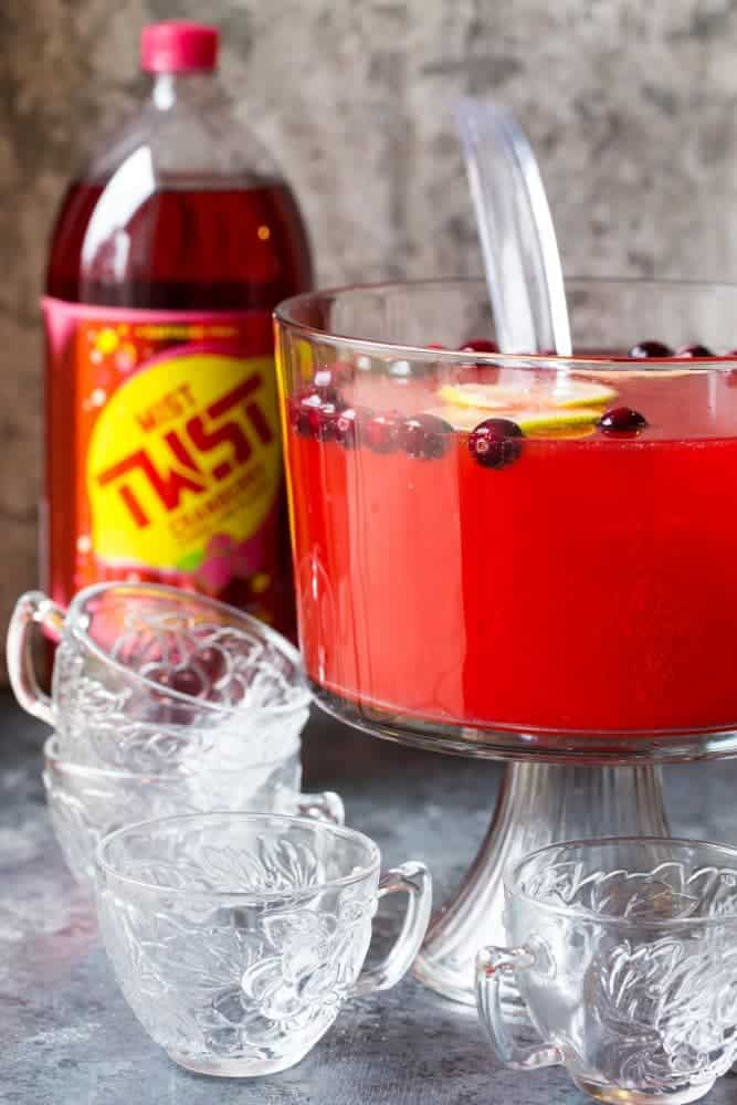 Need an easy last minute cocktail for the holidays? This Boozy Cranberry Punch is perfect!