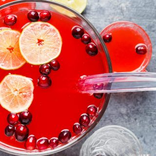 Boozy Cranberry Punch