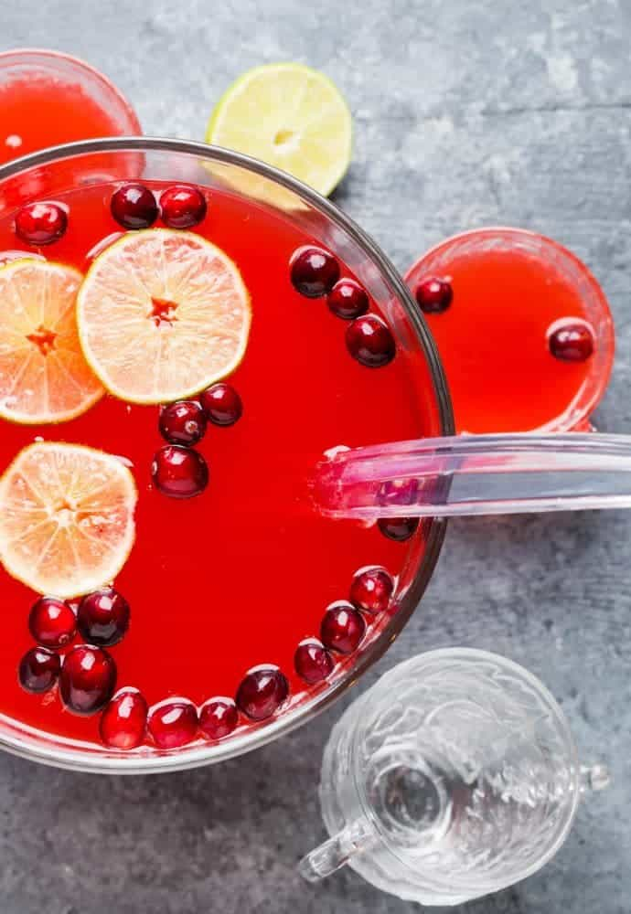 Need a cocktail for the holidays? Break out your punch bowl and make this Boozy Cranberry Punch!