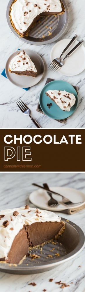How can you go wrong with a creamy Chocolate Pie? Simple answer: you can't!