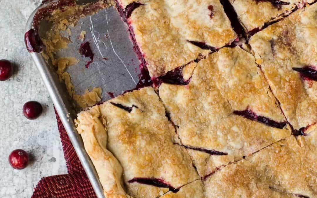 Cranberry Cherry Slab Pie