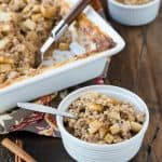 Need a warm, make ahead breakfast? Make a batch of this hearty Baked Steel Cut Oatmeal with Apples & Cinnamon and enjoy breakfast all week long!