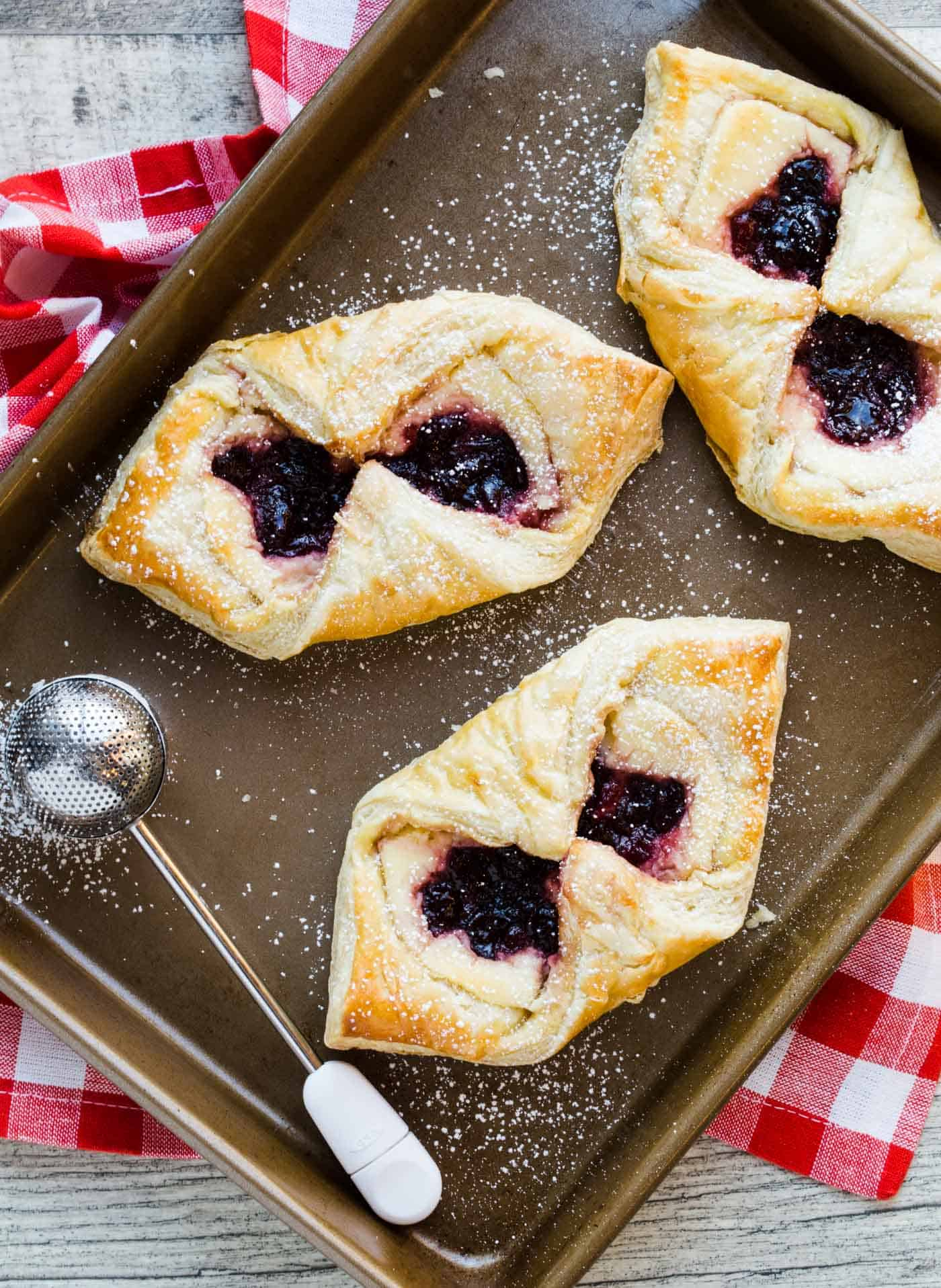 Danish don't have to be just for special occasions! This recipe for Easy Cherry Cream Cheese Danish is conveniently made with frozen puff pastry dough.