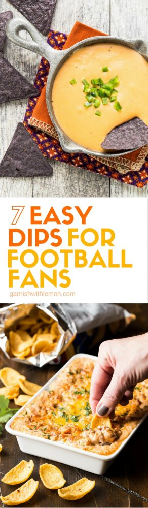 Need a snack for game day? We've got you covered with these 7 Easy Dips that will make every football fan happy, no matter who wins the game.