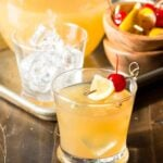 Keep your party menu simple with a batch cocktail recipe. These fresh Meyer Lemon Whiskey Sours are always a huge crowd-pleaser! Can be made ahead of time, too.
