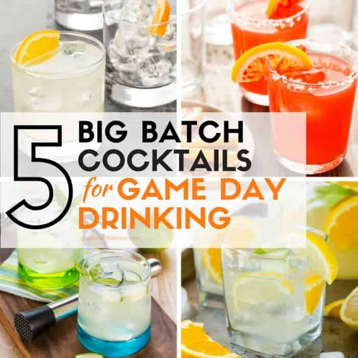 Quench your thirst with a pitcher of these 5 Big Batch Cocktails for Game Day Drinking!