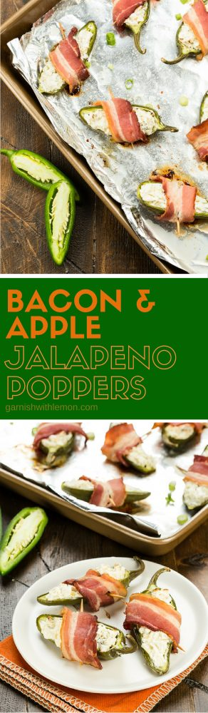 Tart apples give a new twist to a traditional party food in these Bacon & Apple Jalapeño Poppers