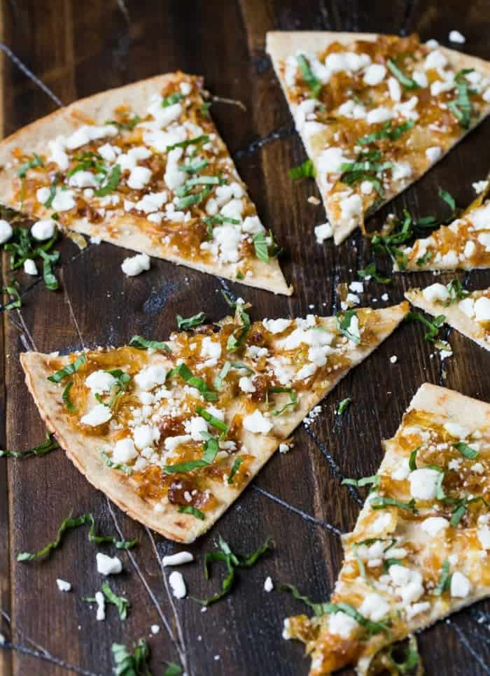 Make a double batch of caramelized onions and freeze the extra so you always have some on hand for this Flatbread with Goat Cheese and Caramelized Onions.