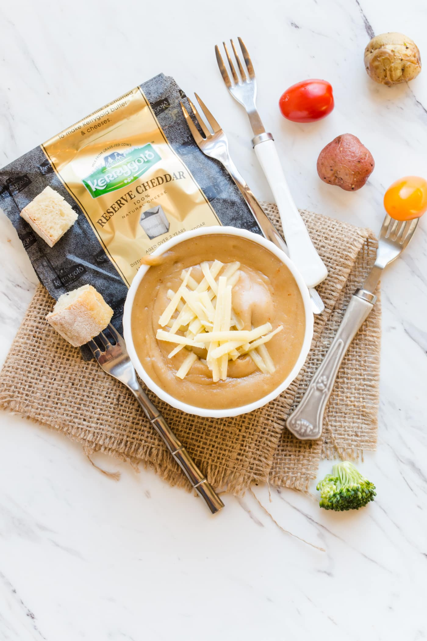 Add some Irish flavor to your St. Patrick's Day party with this Irish Cheddar and Stout Fondue!