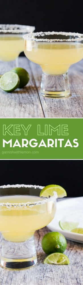 You only need 4 ingredients to be transported to the tropics! These Key Lime Margaritas are our new favorite tequila drink!