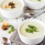 Lighter than most potato soup recipes, this Roasted Potato Leek Soup with Arugula bridges the gap between winter and spring effortlessly.