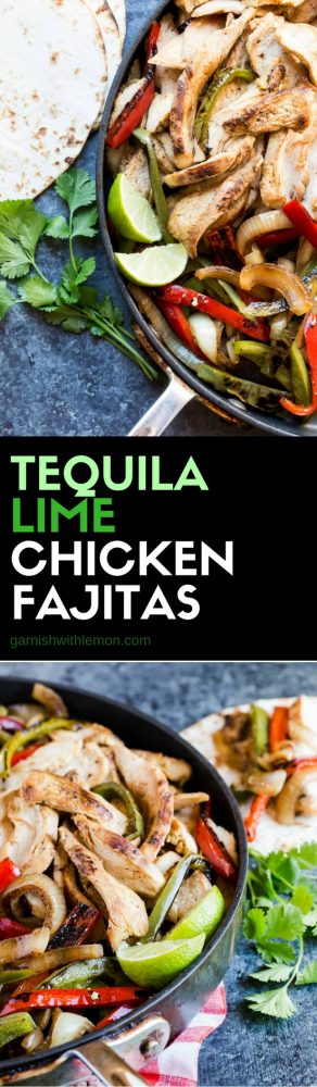 Nothing says fiesta like this recipe for fresh, flavorful Tequila Lime Chicken Fajitas. Great for a crowd!