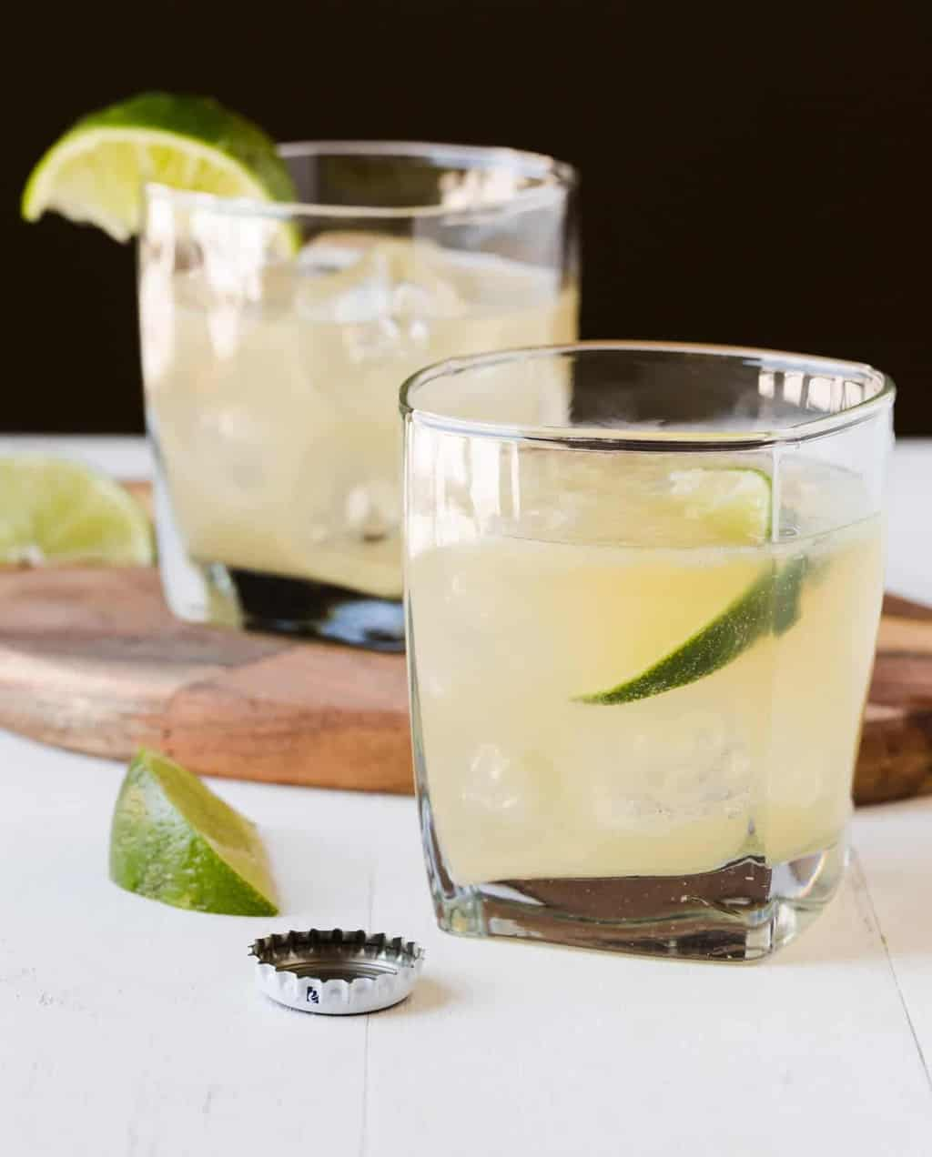 Beer in a margarita? You bet! With only 3 ingredients, this recipe for Beer Margaritas tastes better than any bottled mix. Great for parties!