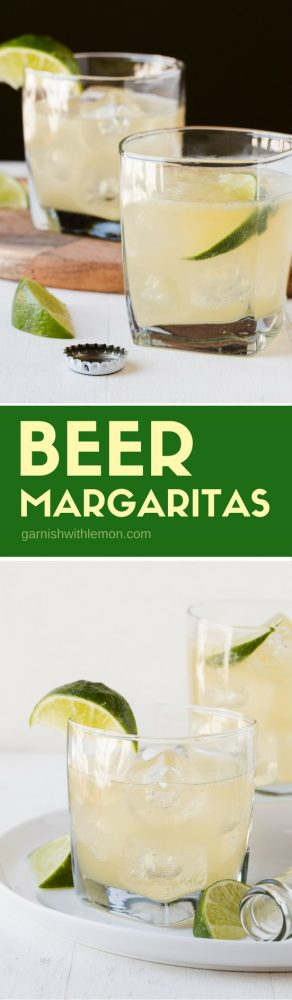 Skip the premade margarita mix. This easy recipe for Beer Margaritas has only 3 ingredients and tastes way better than any bottled mix you'll find.