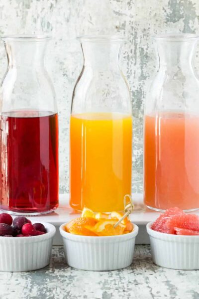 How to set up an Easy DIY Mimosa Bar