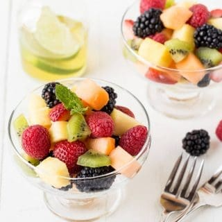 Fruit Salad with Lime Mint Dressing