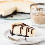 This Irish Cream Cheesecake Recipe with Chocolate Ganache is a great dessert for groups!