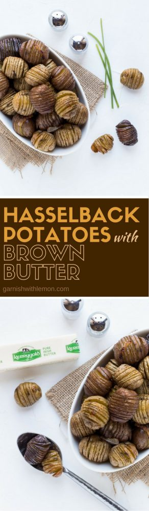Don't settle for just any potato! These Brown Butter Hasselback Potatoes are great for a group!