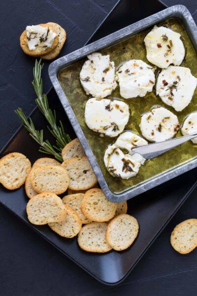 Marinated Goat Cheese Recipe