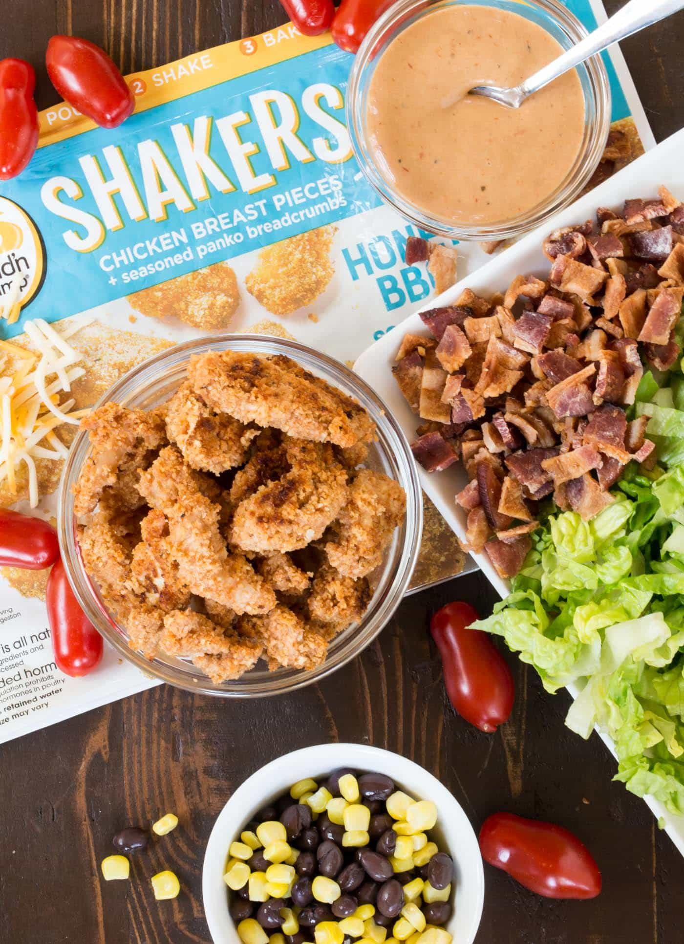 Tired of the same old burgers and brats? Add this satisfying Crunch Honey BBQ Chicken Salad recipe to your next summer party menu!