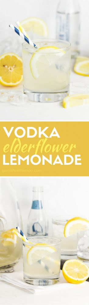 Batch cocktails are the way to go this summer! Vodka and Elderflower Lemonade is a refreshing way to turn a classic cocktail into a fancy drink. You are just 4 ingredients away from the best summer drink!