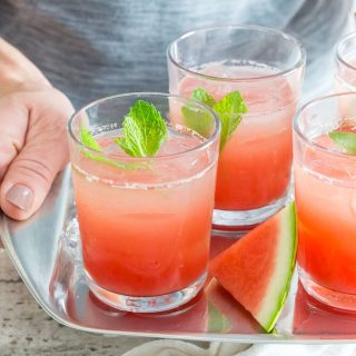 Watermelon Gin Punch is a gorgeous, make-ahead batch cocktail to refresh all of your guests at your next summer party.