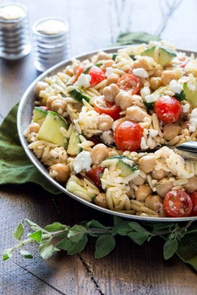 Easy Orzo and Chickpea Salad