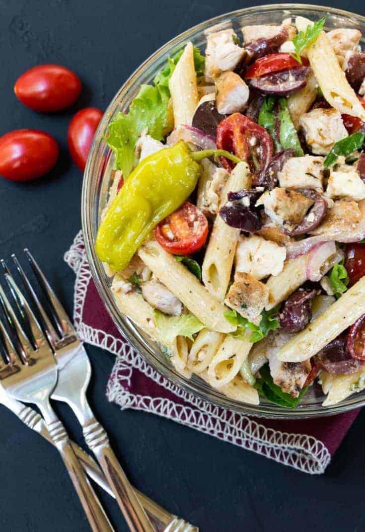 Greek Turkey Pasta Salad Recipe