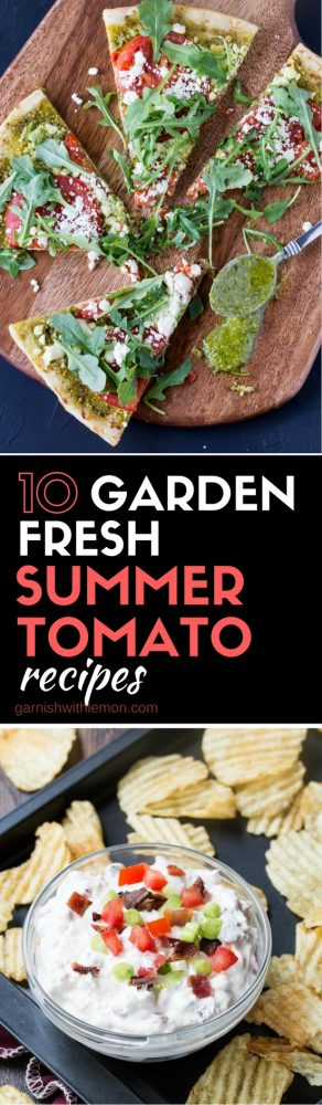 Need some inspiration for new ways to use summer's bounty of tomatoes? Check out our collection of 10 Garden Fresh Summer Tomato Recipes!
