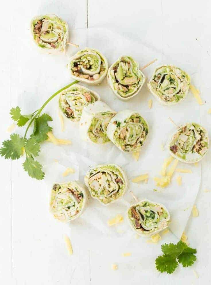Avocado Bacon Pinwheels Recipe
