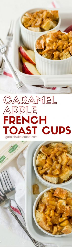 You are going to make up an excise to host brunch just so you can make this Easy Caramel Apple French Toast Cups recipe. Great for a group and easy too!