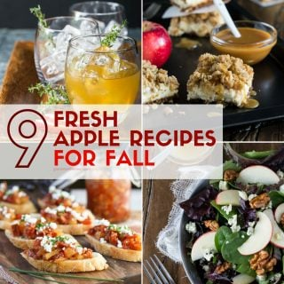 Pictures of different apple recipes in this collection of 9 Fresh apple recipes for fall
