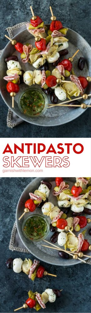 Filled with all of the antipasto flavors you love, these easy, make-ahead Antipasto Skewers are just what your next party needs.
