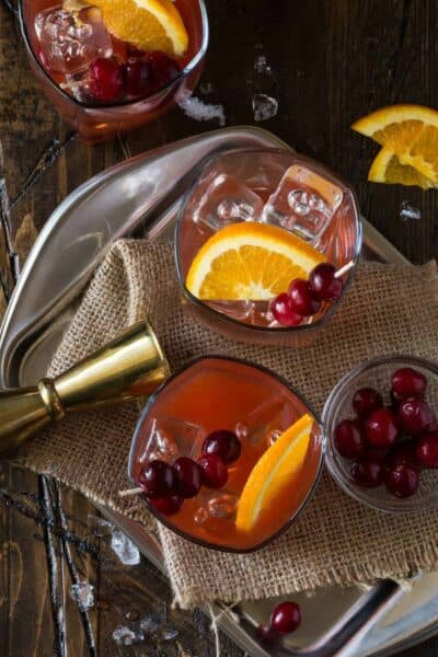 Cranberry Whiskey Sours