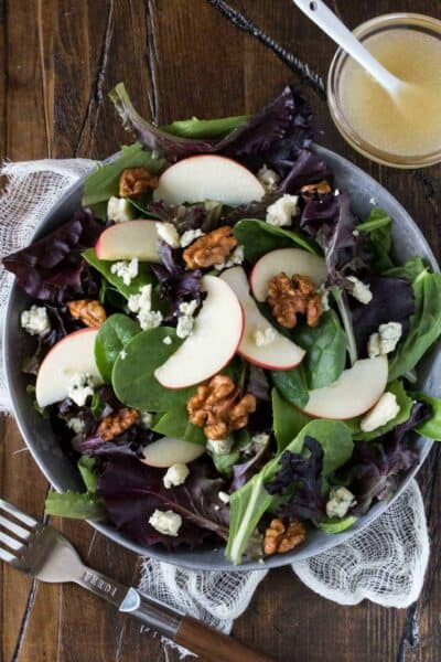 Apple, Blue Cheese and Candied Walnut Salad