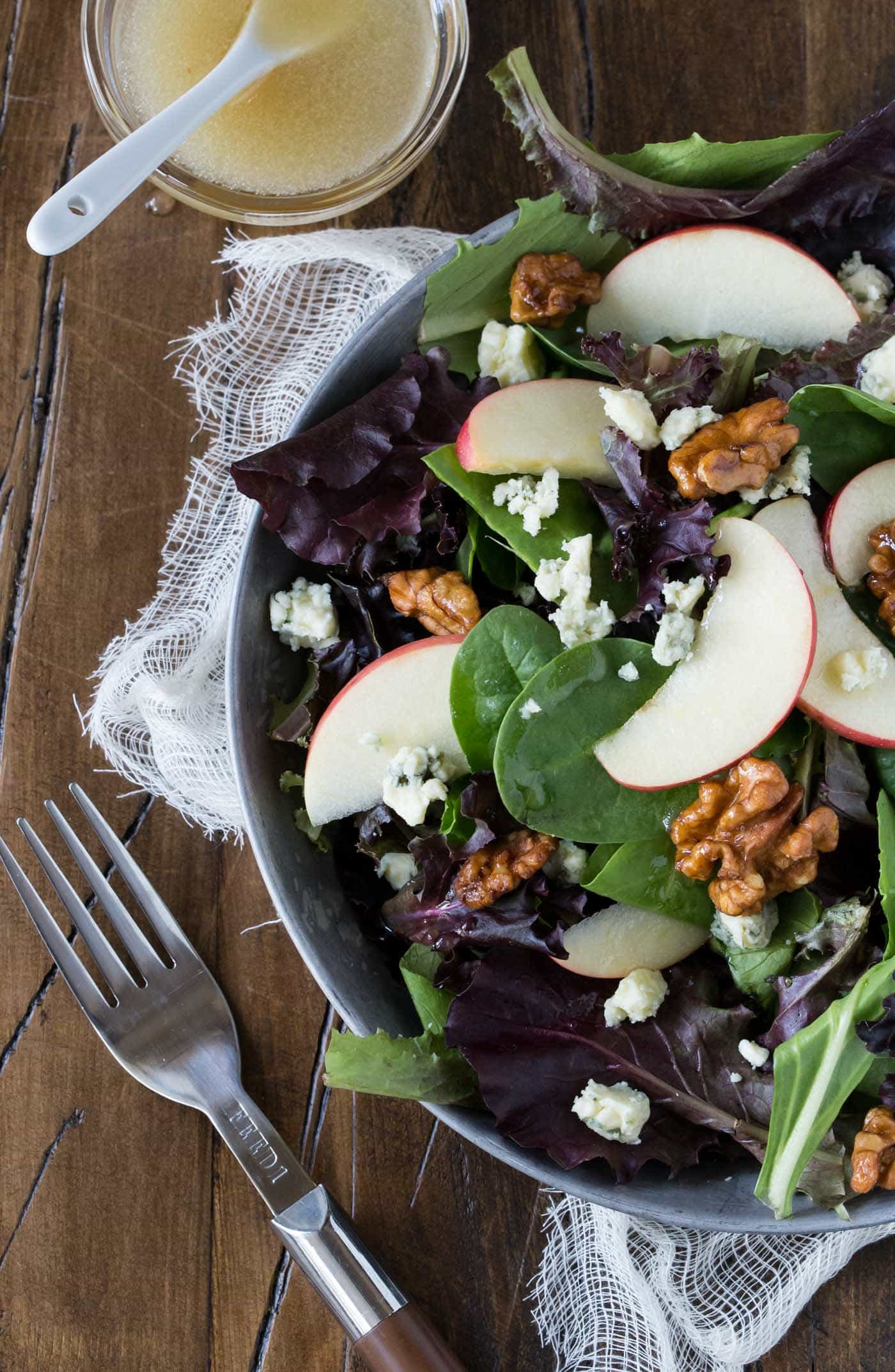 Apple, Blue Cheese and Walnut Salad recipe is a tasty complement to any menu.