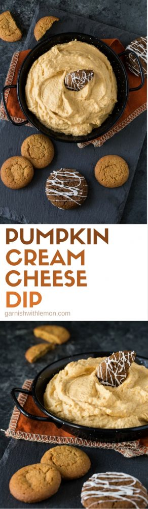 Get your fill of fall flavors in this quick and easy Pumpkin Cream Cheese Dip - a perfect dessert recipe for potlucks and parties!