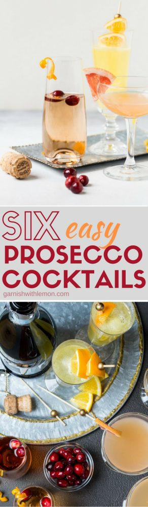 Celebrate the holidays in style with any one of these 6 Easy Prosecco Cocktails!