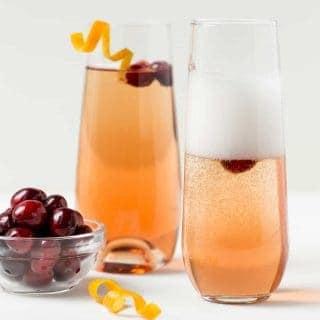 Cranberry Orange Prosecco Cocktail