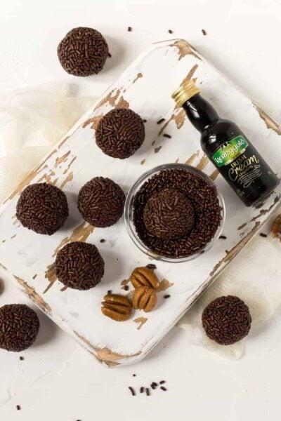 Dark Chocolate Irish Cream Balls
