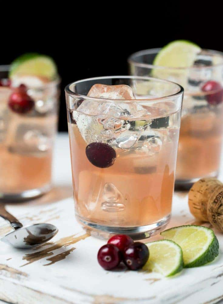 Sparkling Cranberry Gin Cocktail