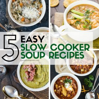 Four pictures of easy slow cooker soup recipes