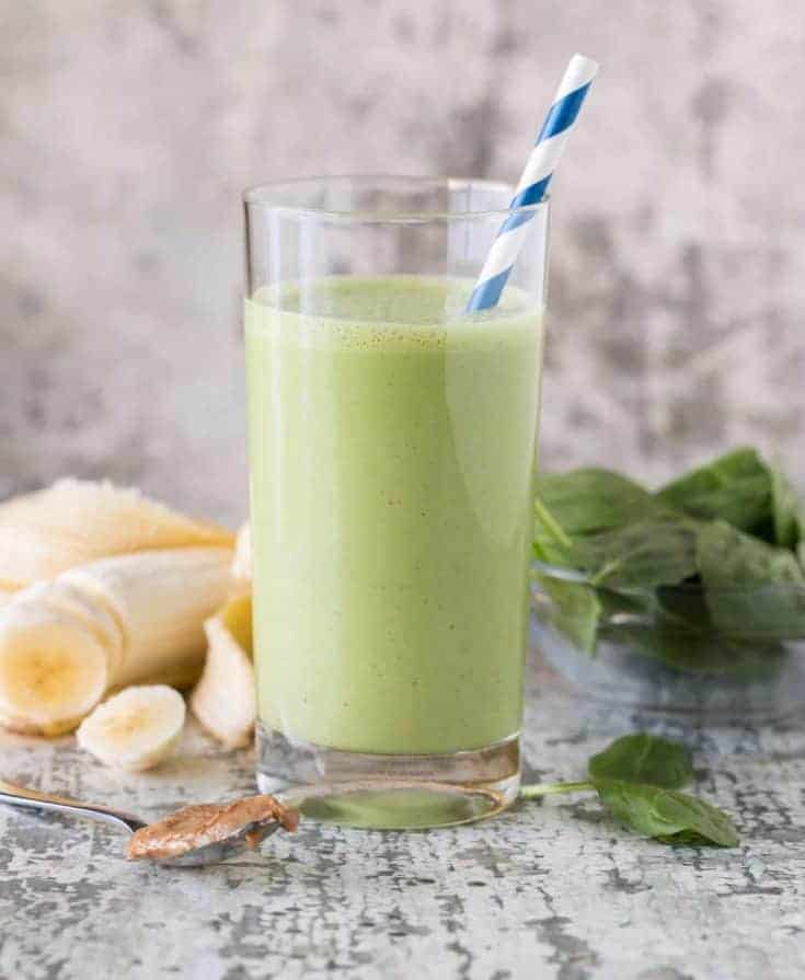 Easy Banana Spinach Protein Smoothie