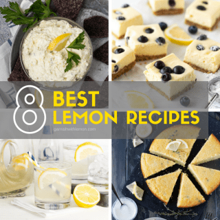 Collage picture of 4 lemon recipes