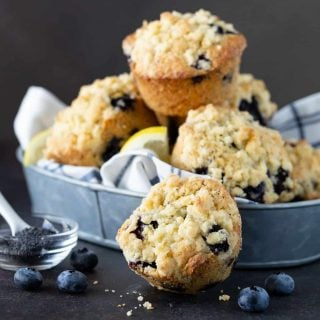 Blueberry Lemon Poppy Seed Muffins