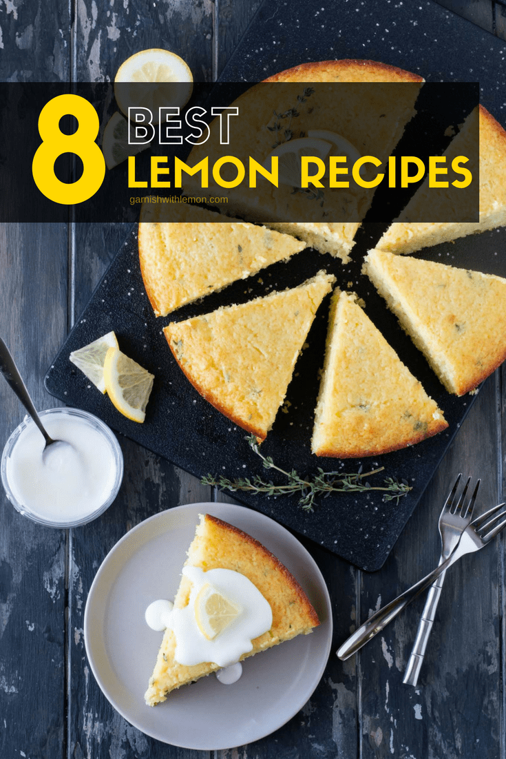image of lemon breakfast cake to highlight our 8 best lemon recipes post