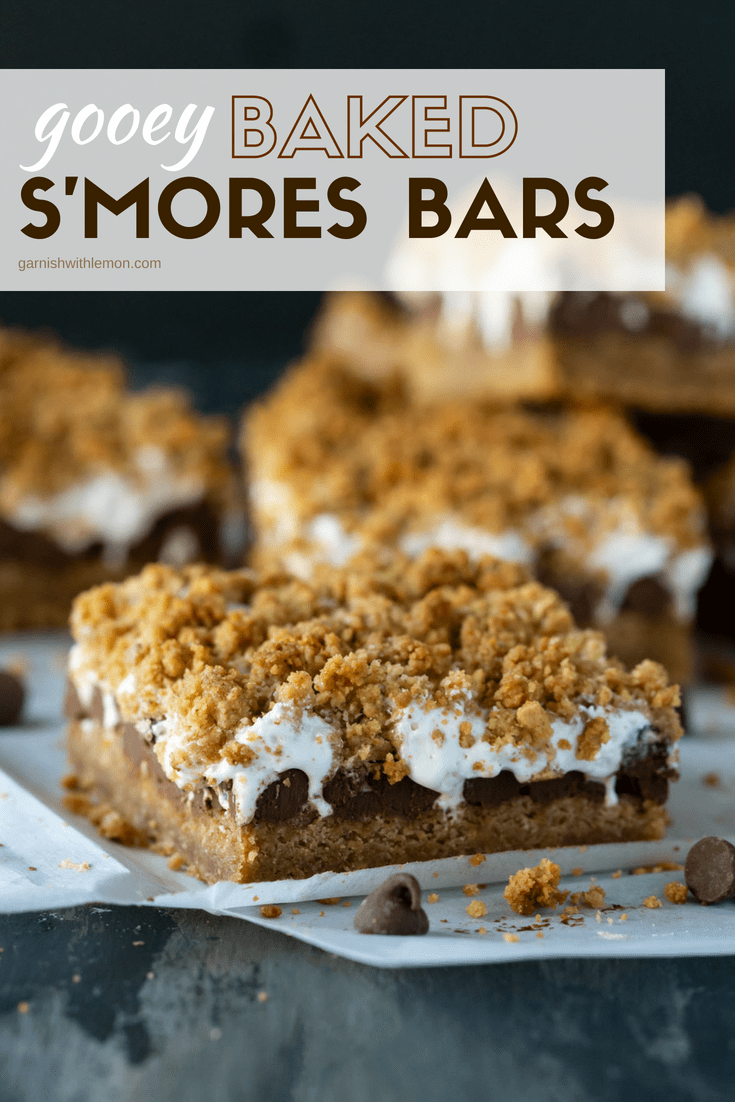 Image of s'mores bar for Gooey Baked S'mores Bars Recipe