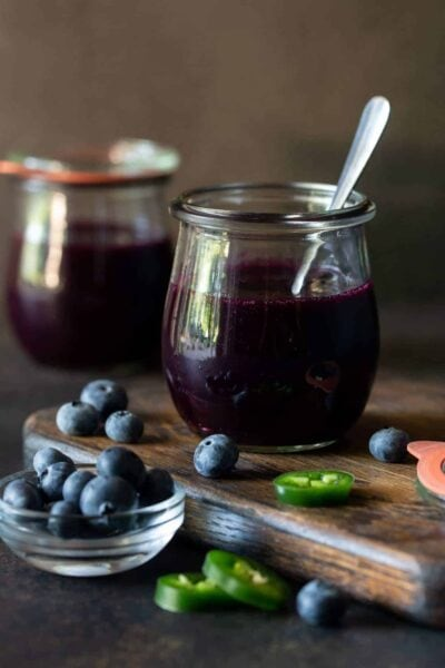 Easy Blueberry Jalapeño Freezer Jam